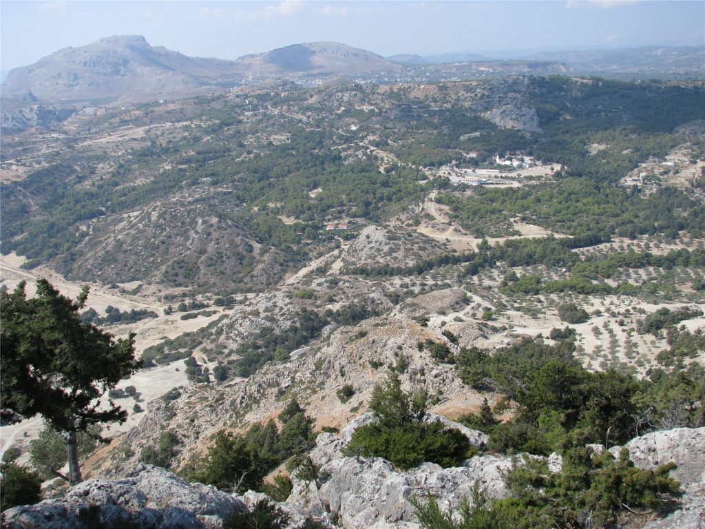 Вид с горы Цамбика. Родос. Греция.