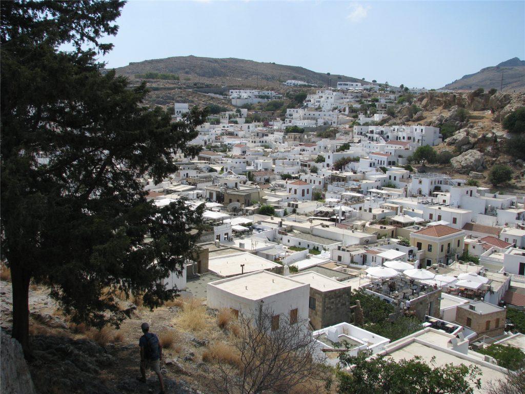 Белокаменный Линдос на острове Родос