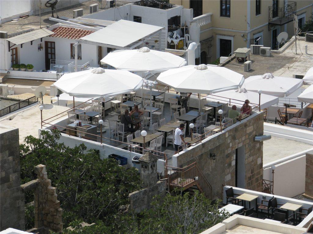 Типичный ресторанчик в Линдосе. Родос. Греция.