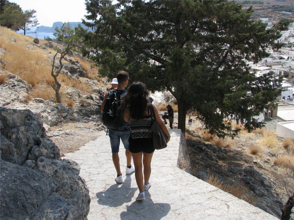 Линдос, Родос. Подъем к Акрополю.