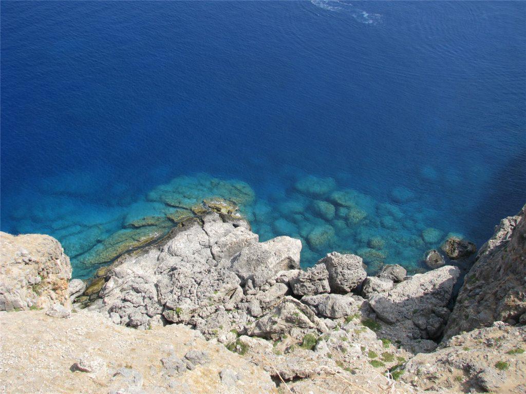 Средиземное море. Вид из Акрополя Линдосского.