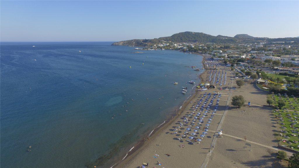 Городской пляж Фалираки с дрона DJI Phantom 3