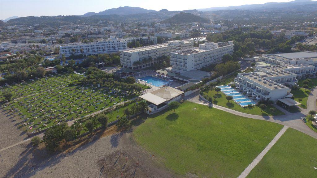 Отель Apollo Beach с воздуха. Фалираки. Родос.