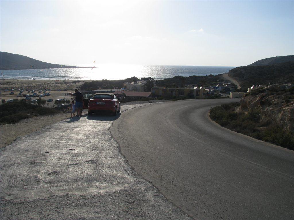 Дорога к мысу Прасониси на острове Родос
