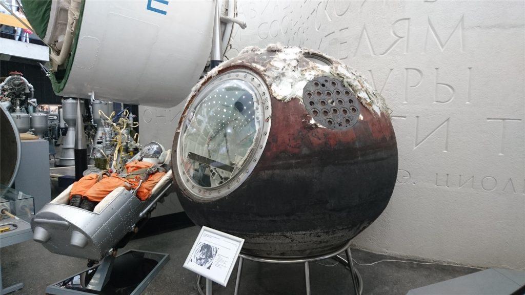 Спускаемый модуль 1963 года. Музей истории Космонавтики в Калуге.