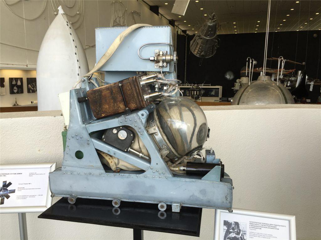 Катапультная тележка для подопытных животных первых космических полетов