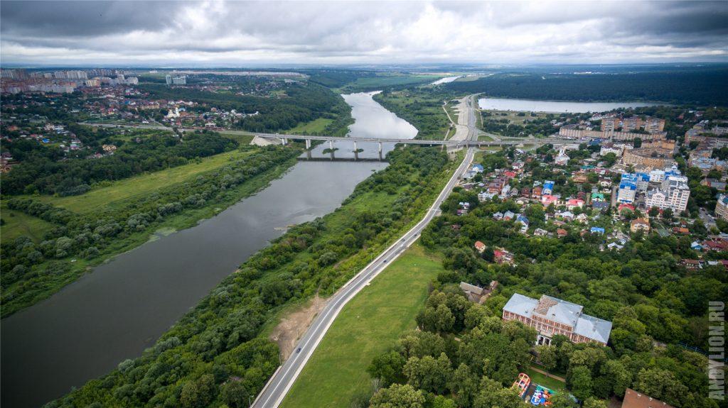 Река Ока и Гагаринский мост
