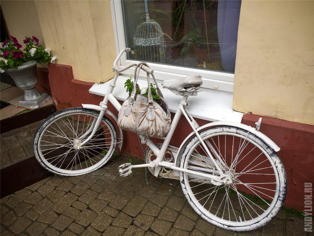 Уличные украшения в городе Калуга. Велосипед.