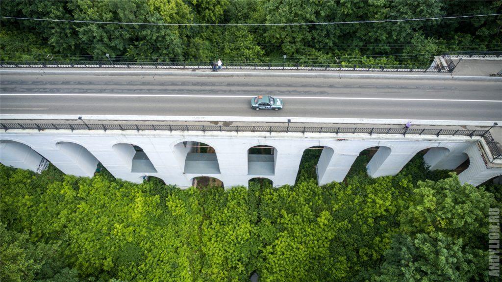 Калуга с воздуха. Каменный мост.