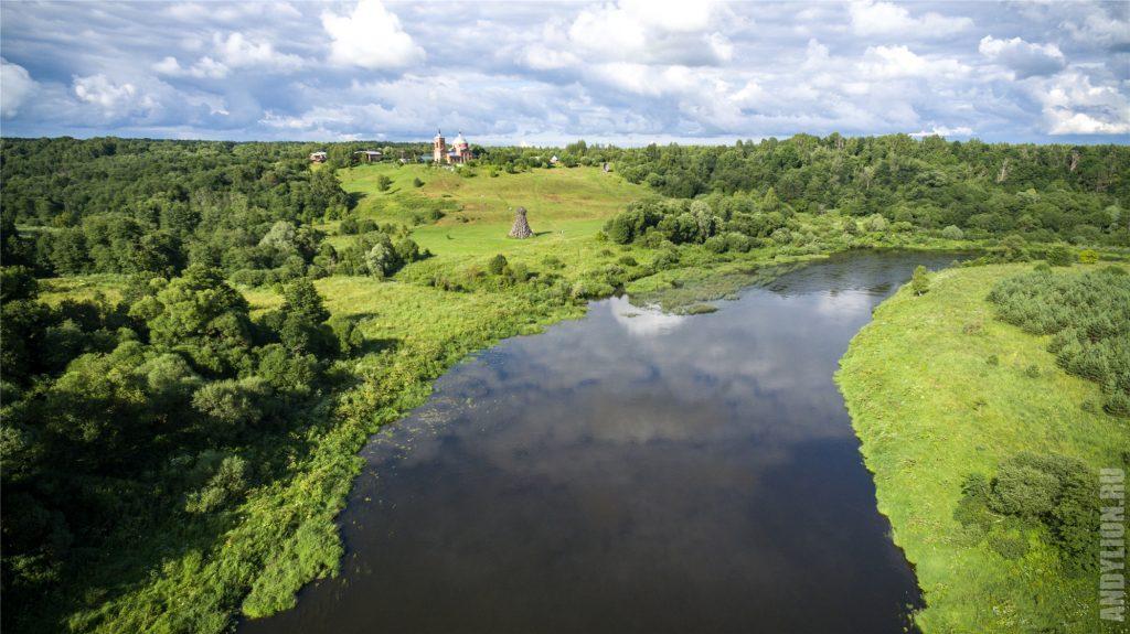 Река Угра и Маяк. Арт-парк Никола-Ленивец.