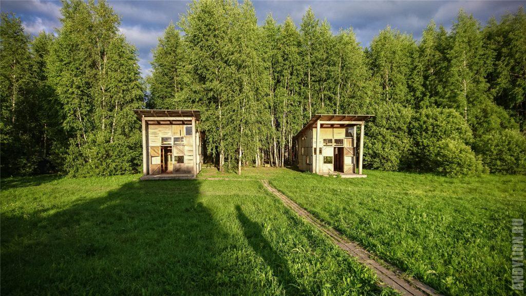 Объекты жилой зоны в арт-парке Никола-Ленивец