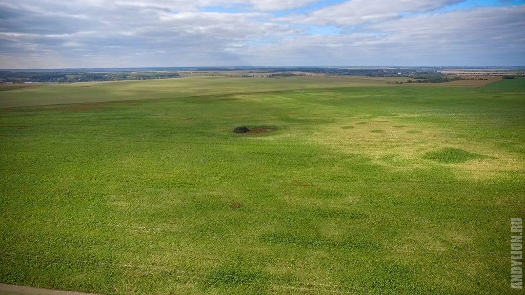 Белорусские поля. Съемка с воздуха.