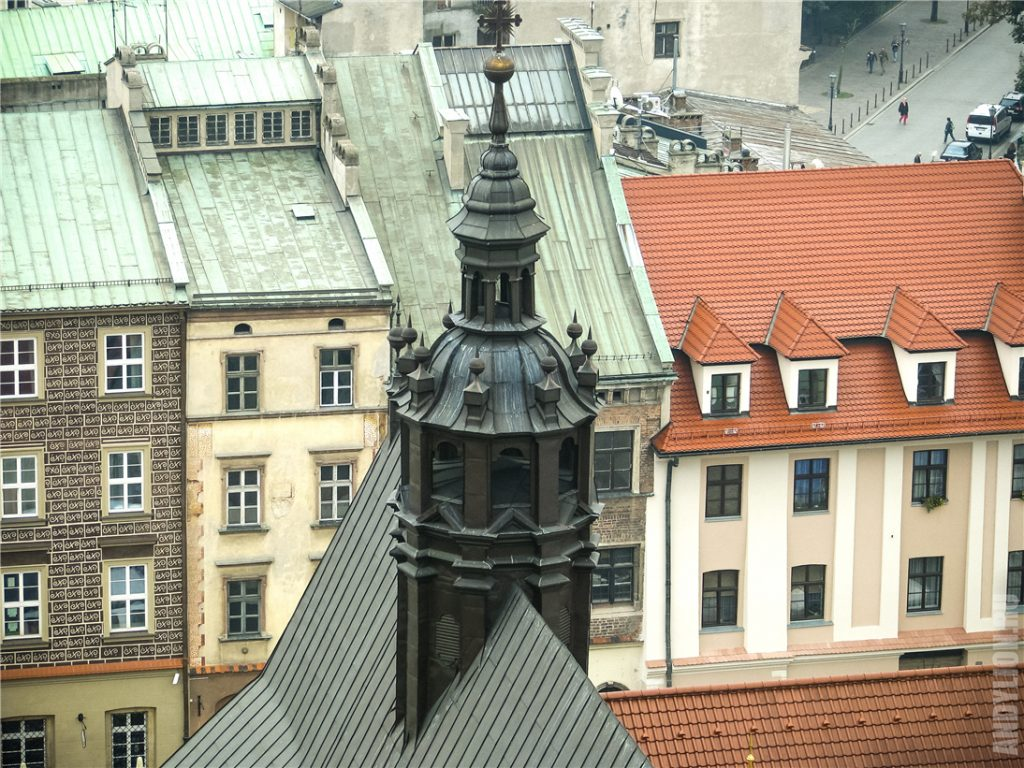 Крыша костела св.Барбары в Кракове
