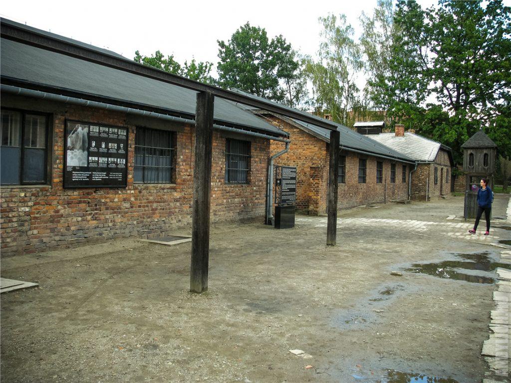 Массовая виселица. Концлагерь в Освенциме.