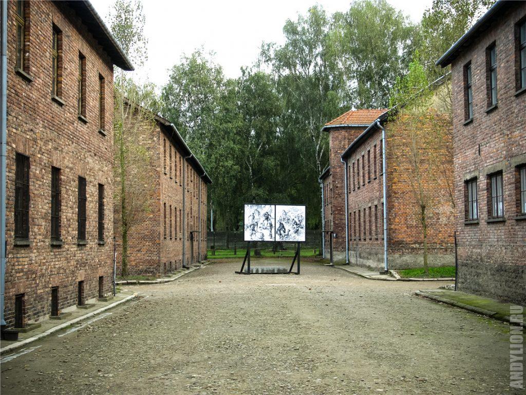 Мрачные пейзажи концлагеря в Освенциме