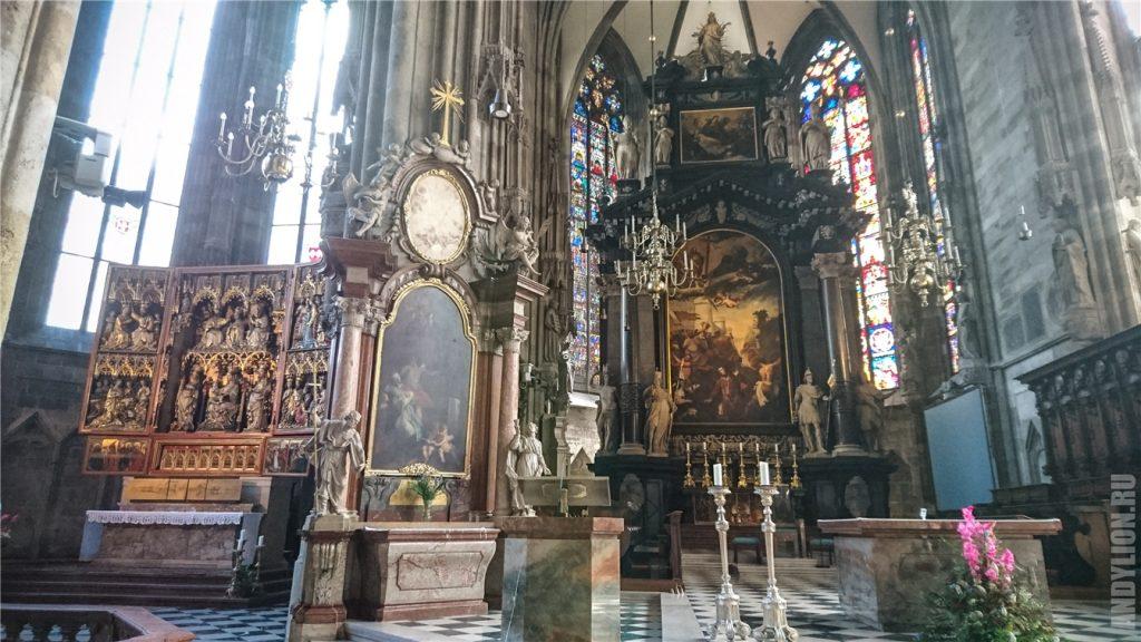 Внутреннее убранство собора св.Стефана. Вена.