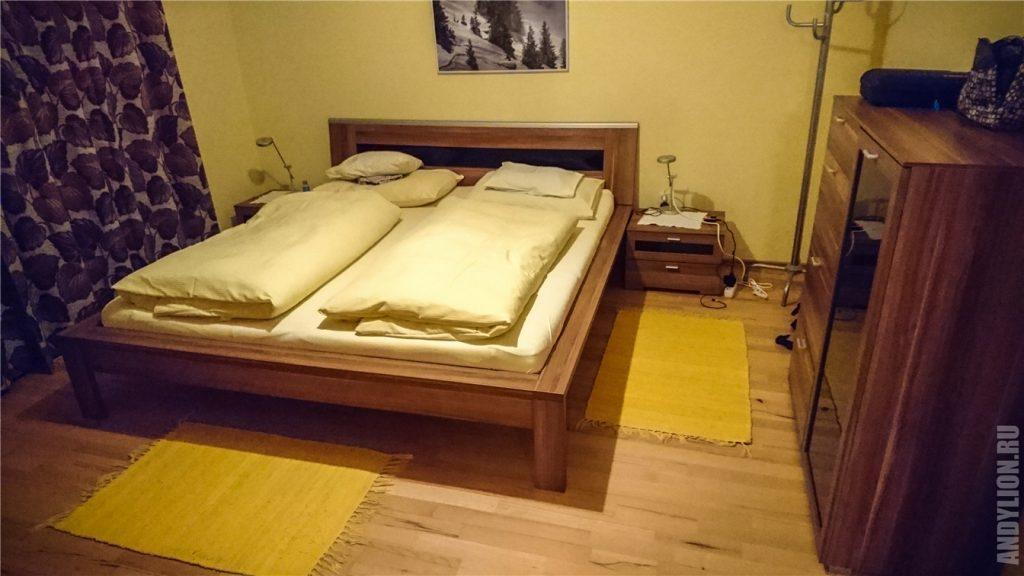 Waldhaus Igls. Спальня.