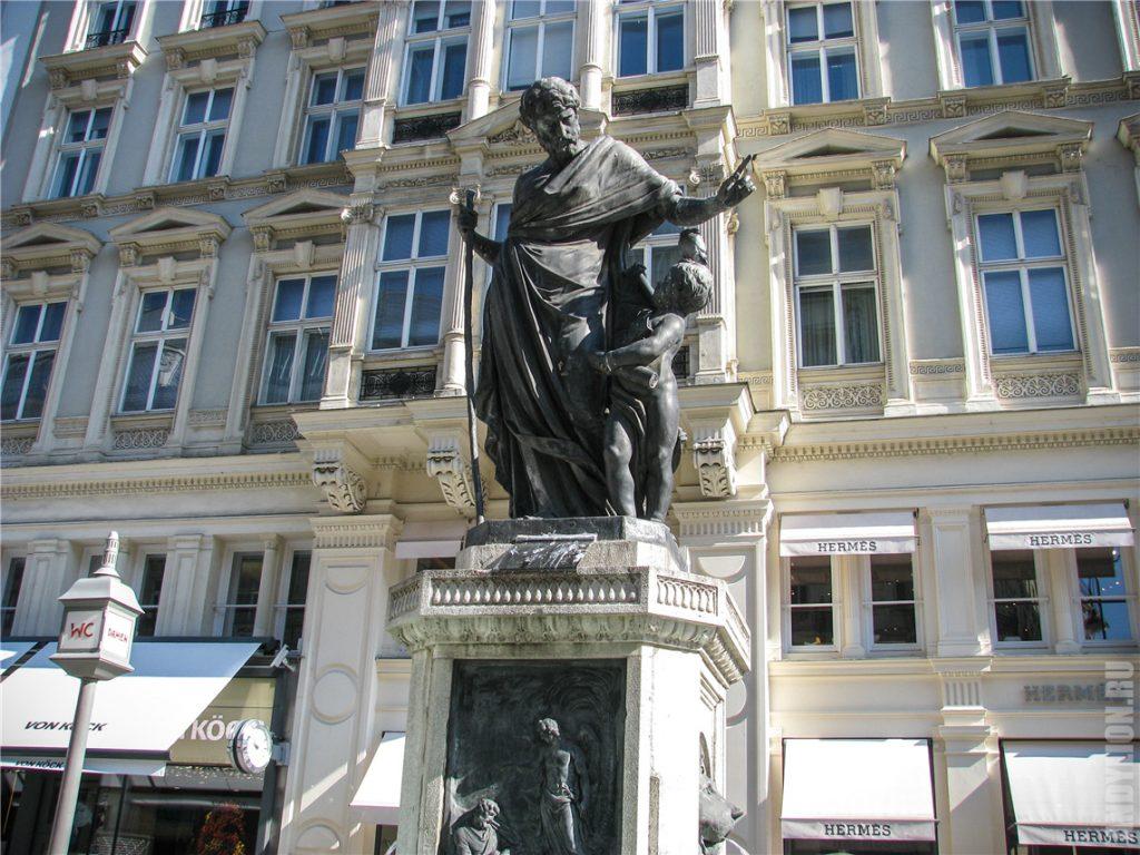 Фонтан Иосифа на улице Грабен в Вене