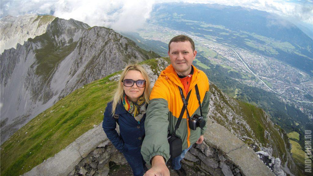 Покорили вершину Hafelekarspitze