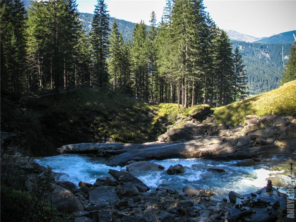 Пейзаж на водопаде Кримль