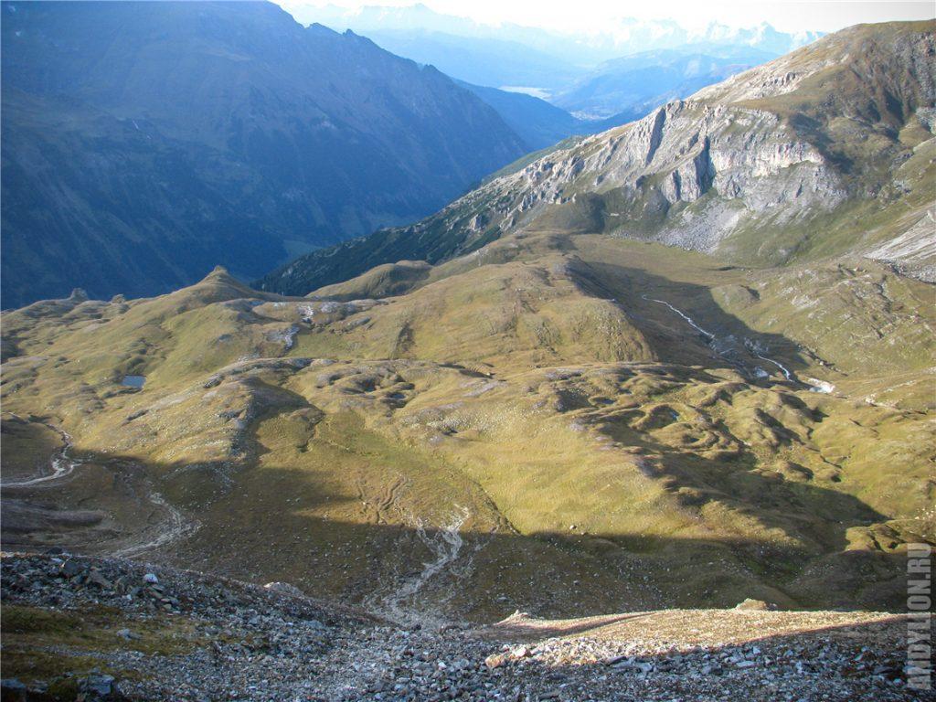 Пейзажи на высокогорной дороге Гросглокнер