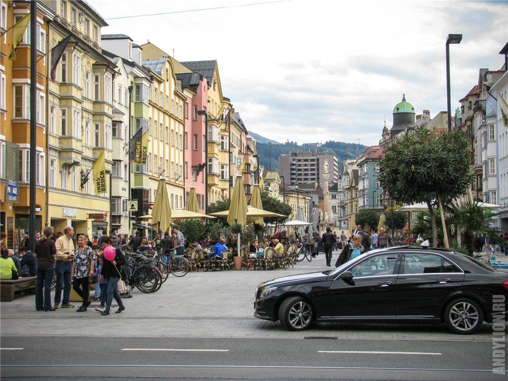 Улицы исторического центра. Инсбрук.