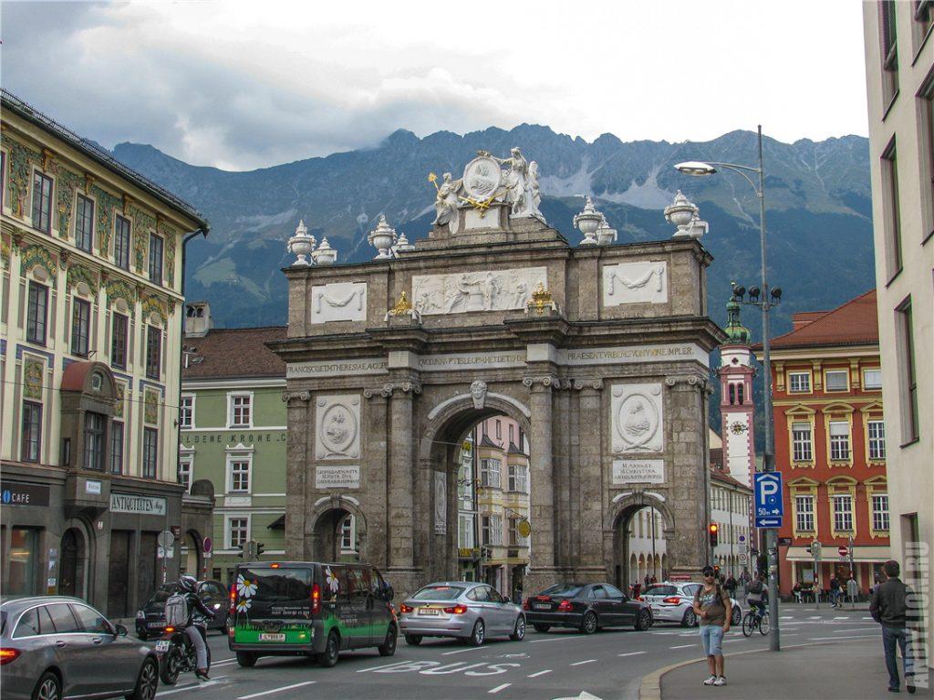 Красота вокруг Триумфальной арки и Альпы