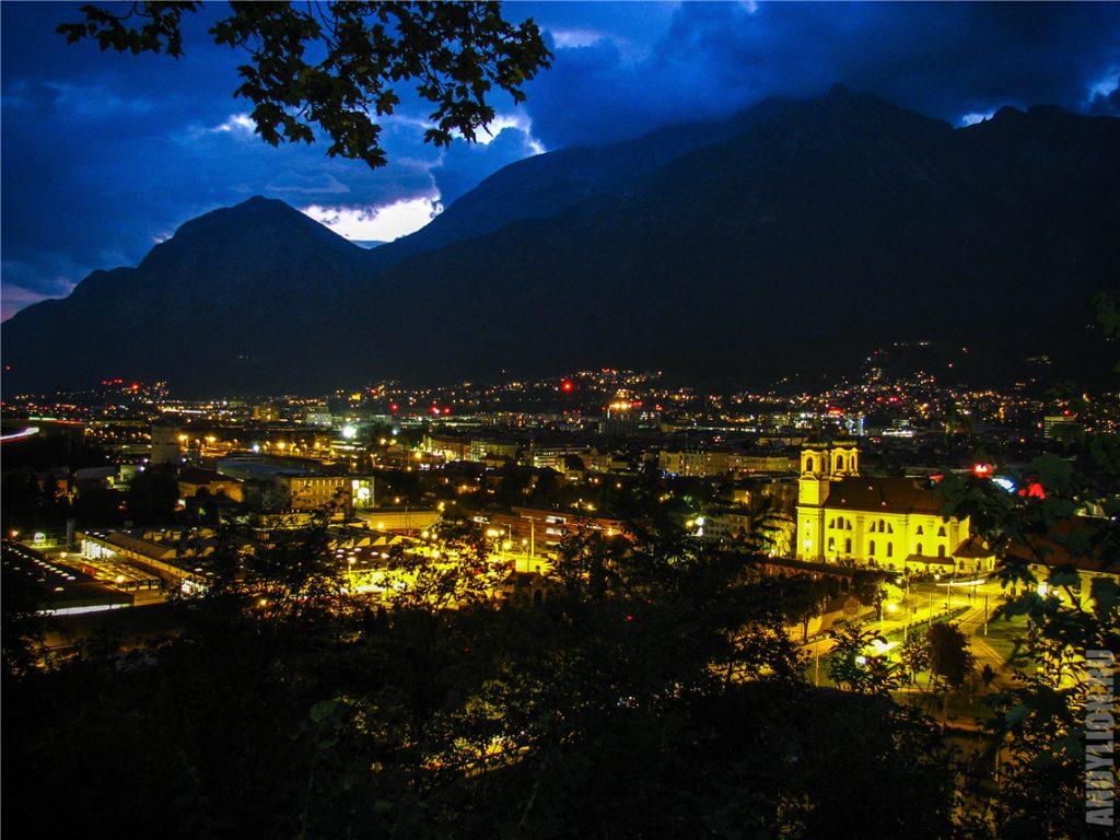 Огни вечернего Инсбрука