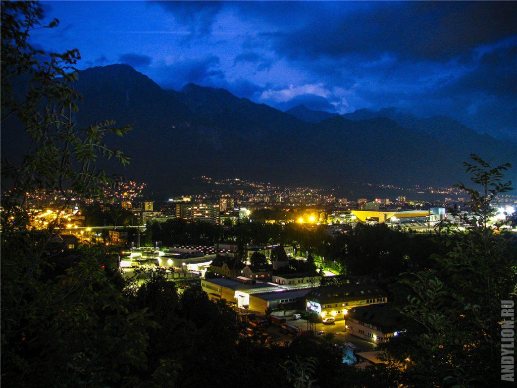 На Инсбрук опускается ночь