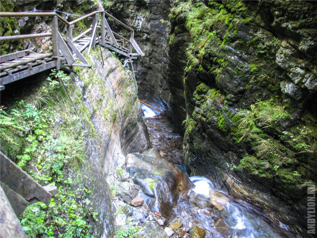 Ущелье Раггашлухт в Австрии