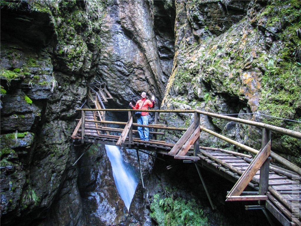 Ущелье Раггашлухт. Мост через ущелье.