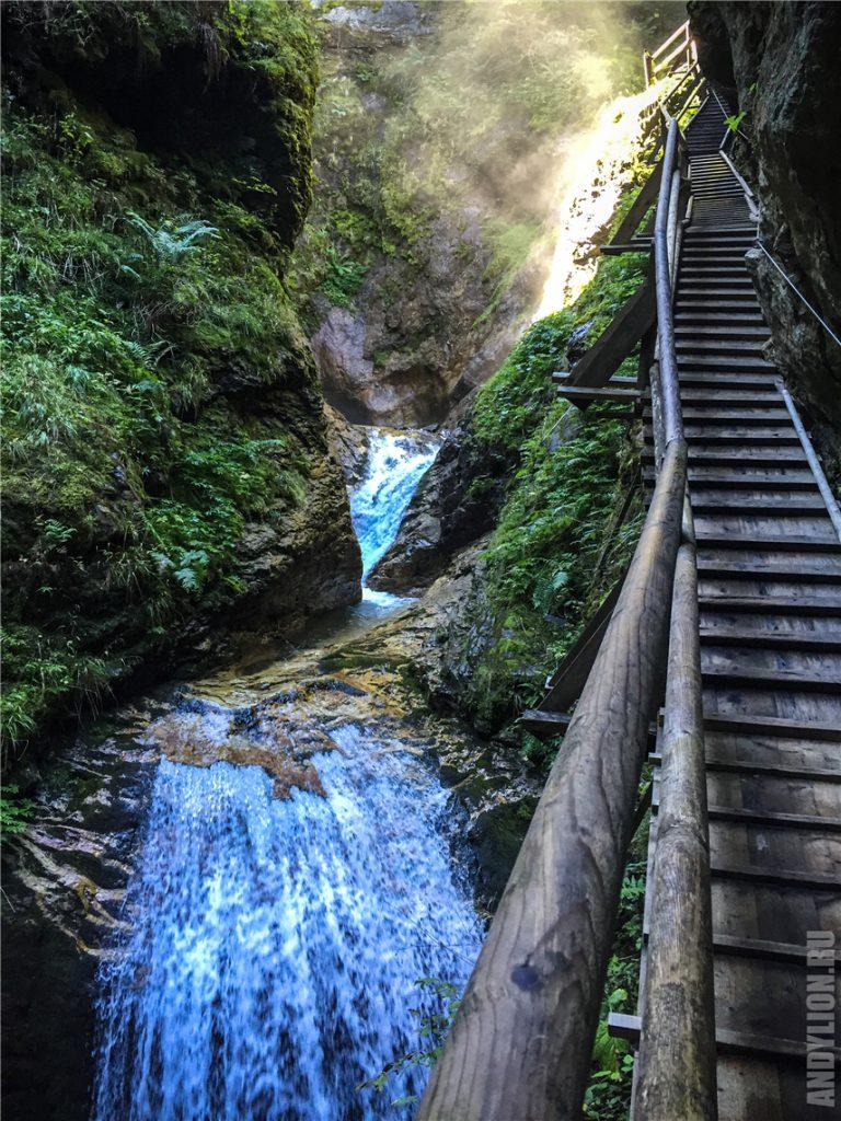 Водопады в ущелье Раггашлухт