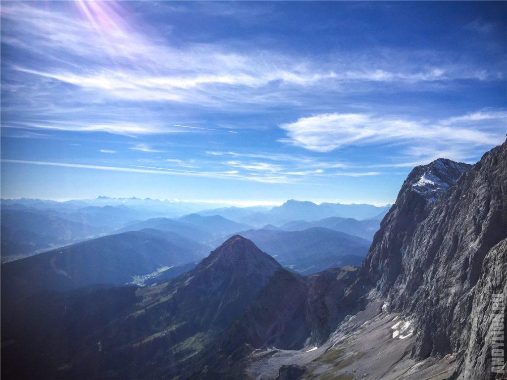 Австрийские Альпы с вершин Дахштайн