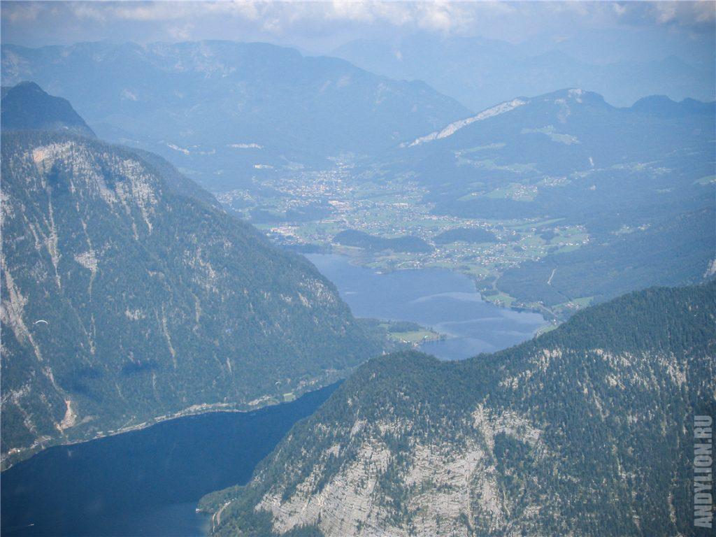 Гальштатское озеро. Взгляд вдаль с Пяти Пальцев.