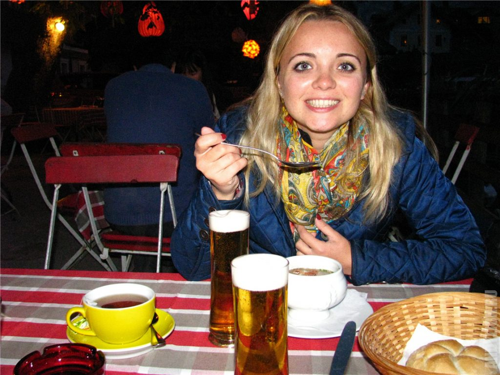 Ресторан Brauhaus Гальштат. Ужин.