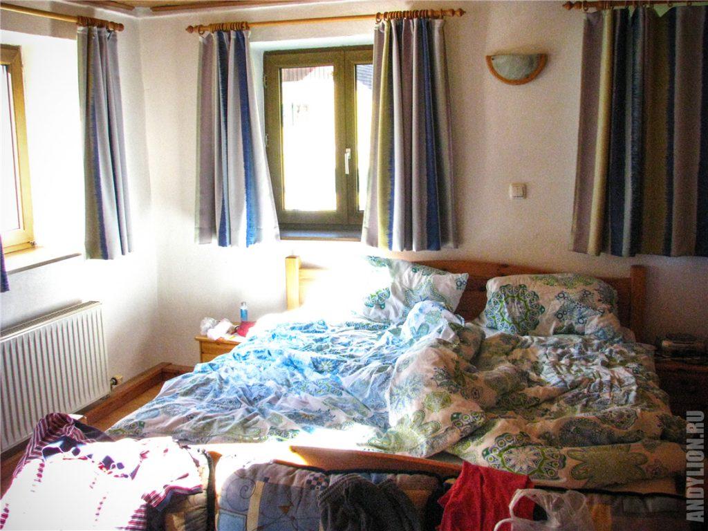 Наша спальня в гостевом доме Ferienhaus Gamsjager