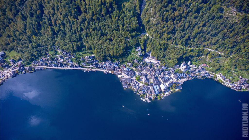 Вид на Гальштат с воздуха