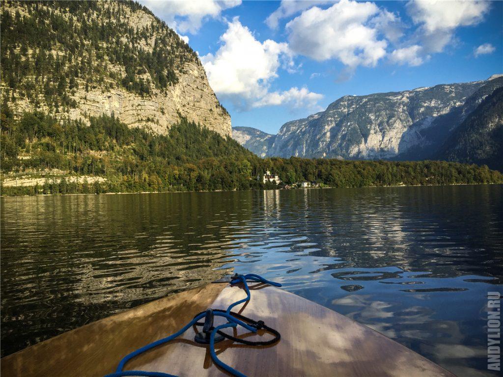 На моторной лодке по Гальштатскому озеру