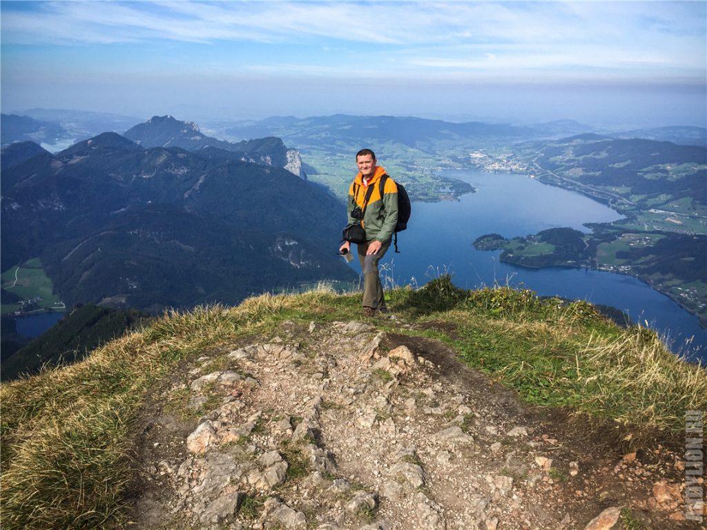 Andy Lion на горе Шафберг