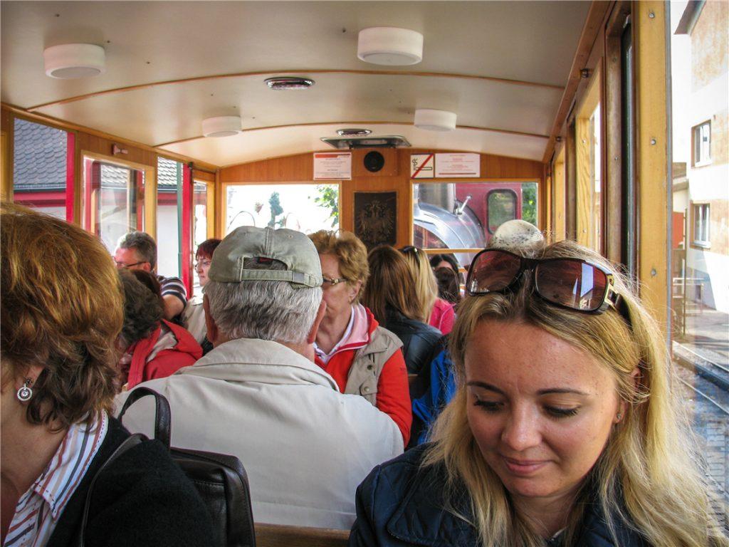 Вагончик поезда на гору Шафберг