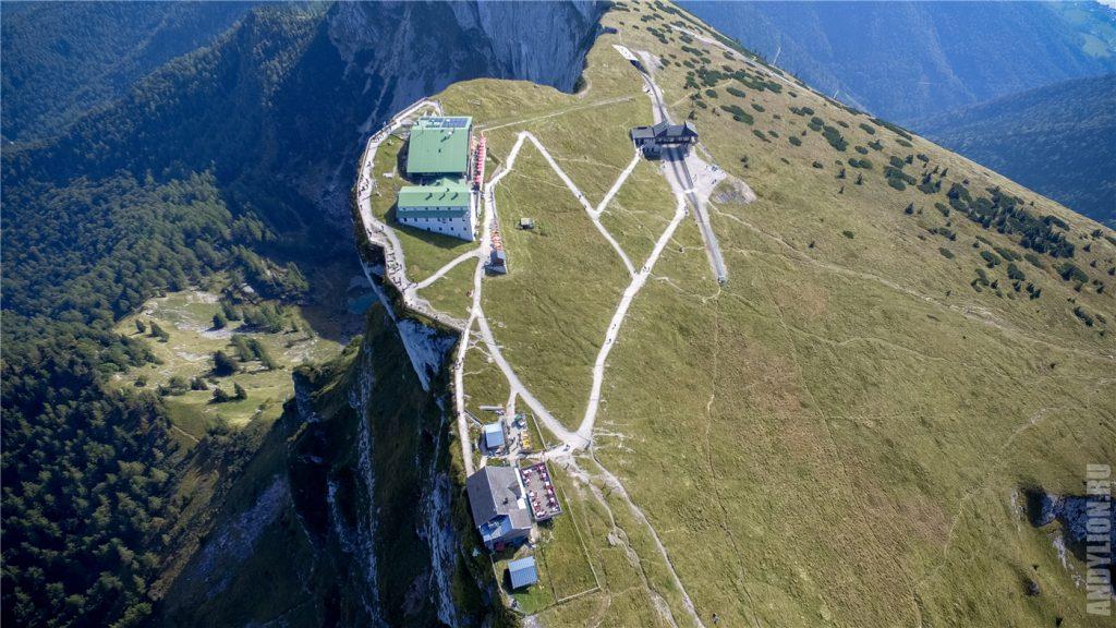 Гора Шафберг с высоты птичьего полета
