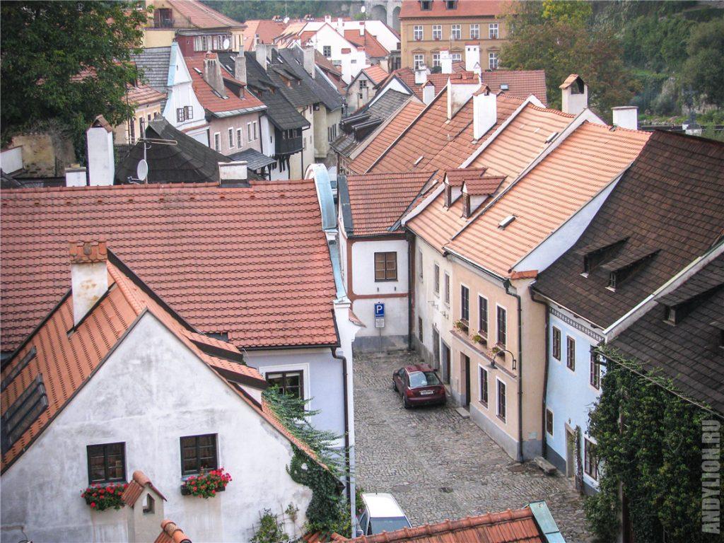 Красные крыши Чески-Крумлов