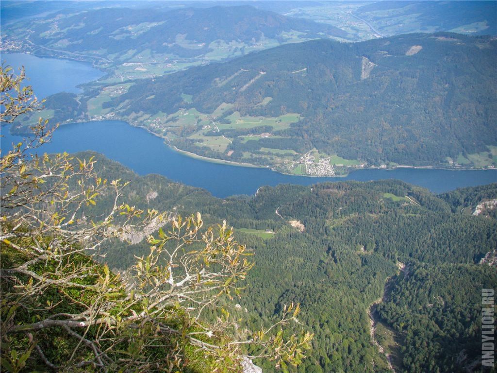 Озеро Мондзе (Mondsee) и деревушку Мариенау
