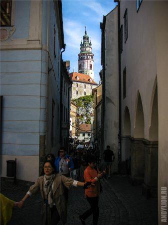 Чески-Крумлов. Замковая башня.