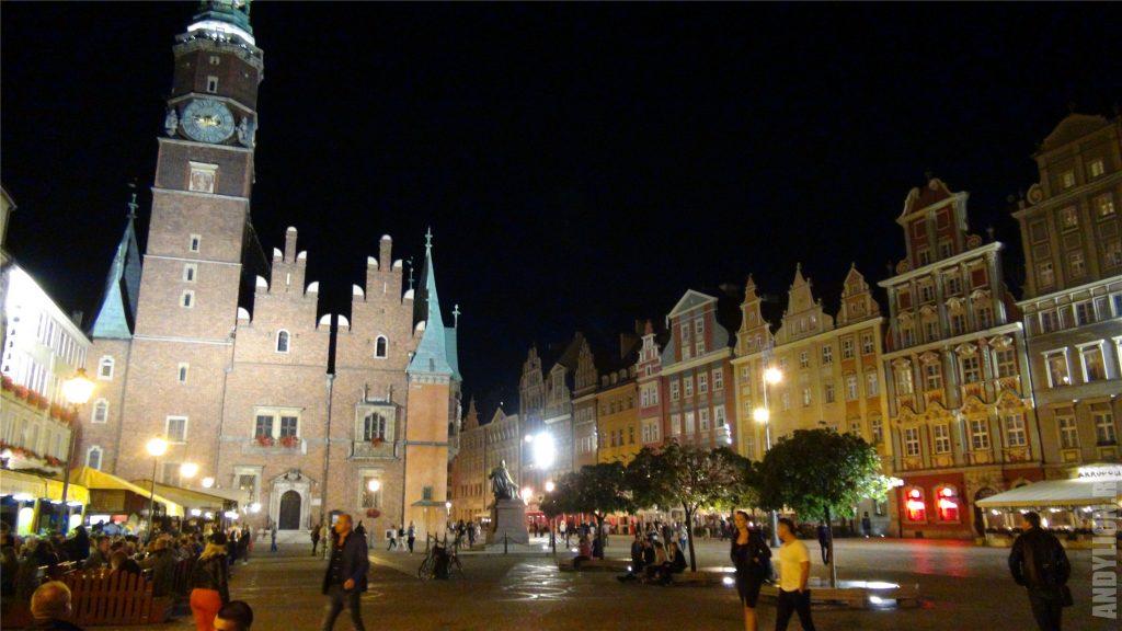 Вечерний Вроцлав. Рыночная площадь.
