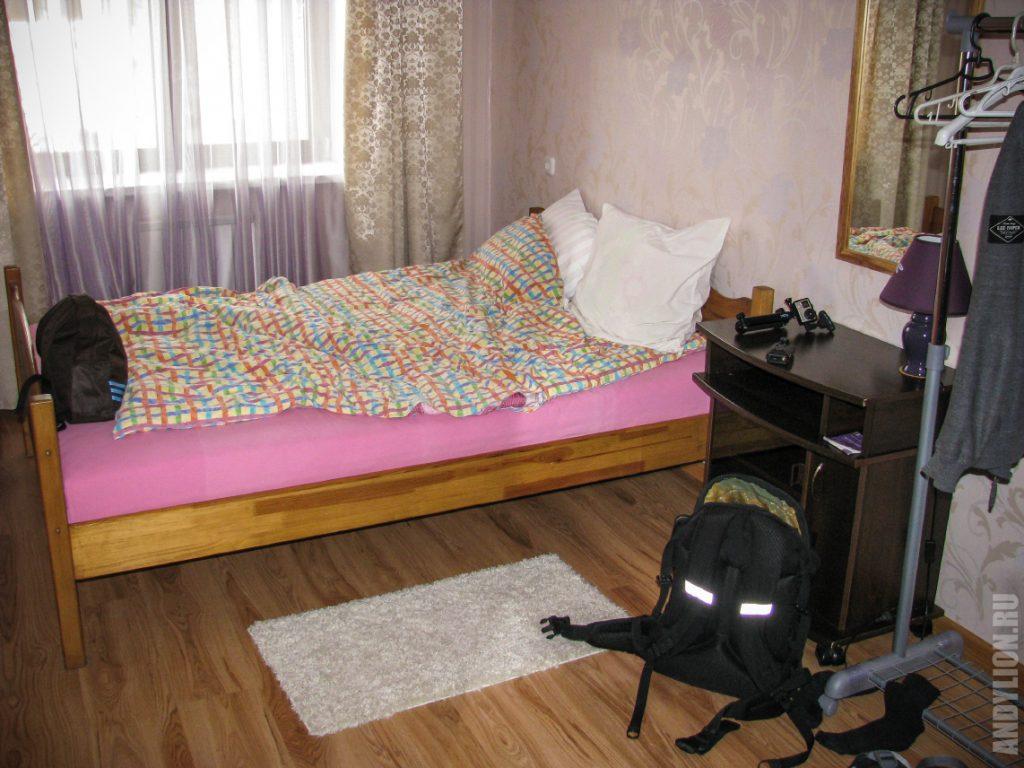 Спальня в апартаментах Стрекоза
