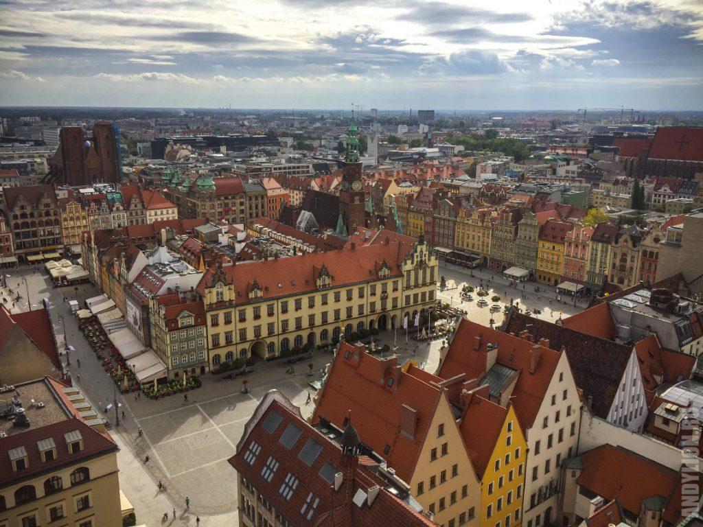 Рыночная площадь Вроцлава с высоты