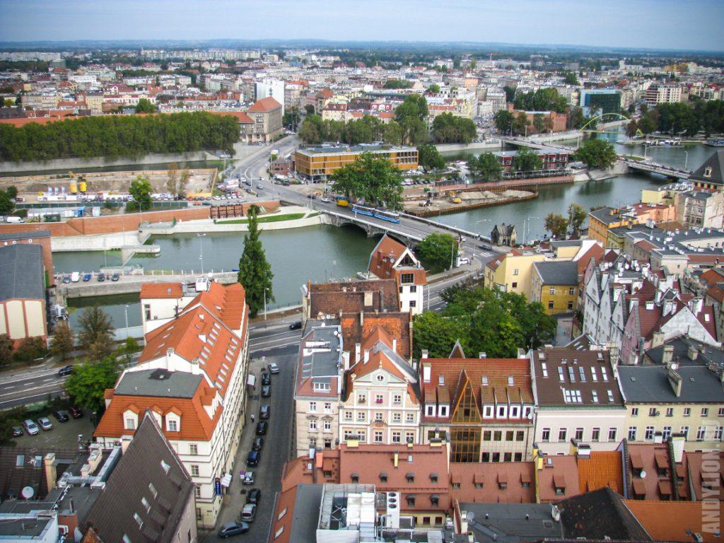 Поморский мост и река Одра