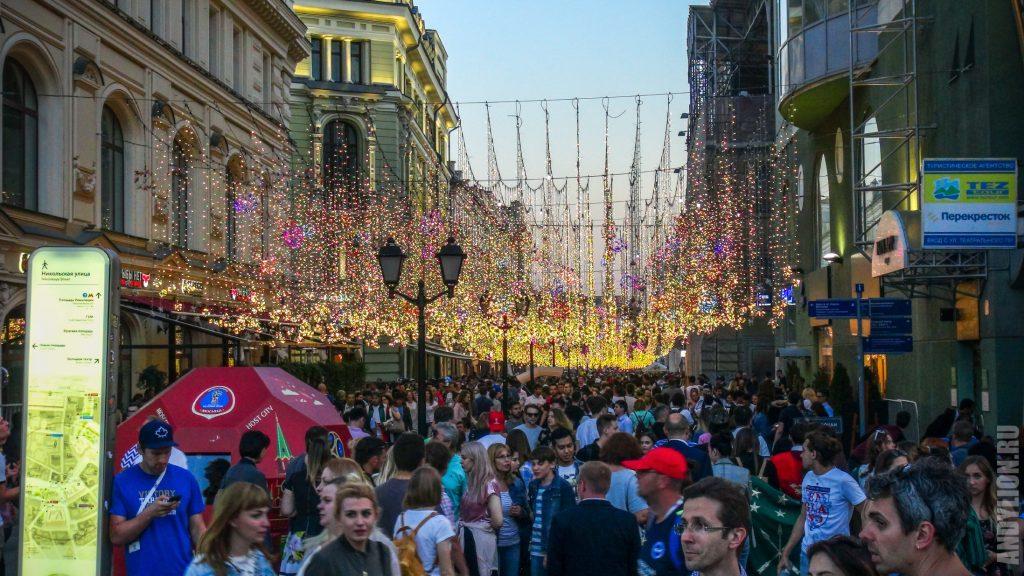 Никольская улица во время ЧМ-2018