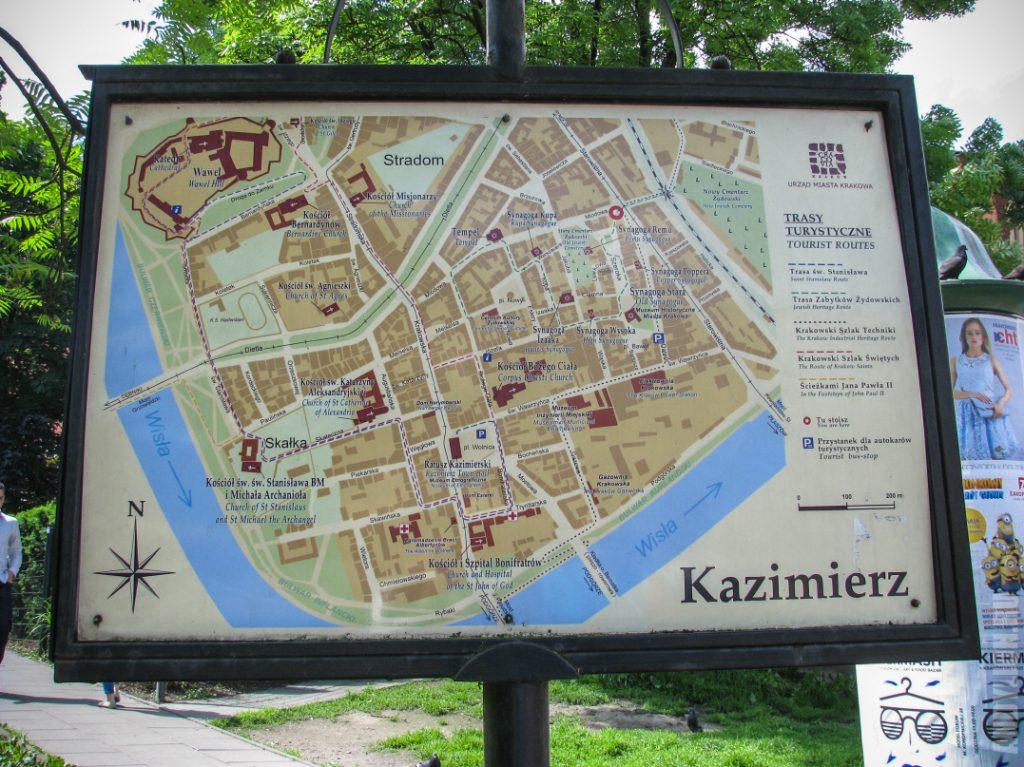 Карта-схема района Казимеж
